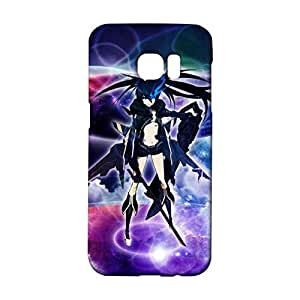Durable 3D Hard Plastic Cover Snap on Samsung Galaxy S7 Edge,Lovely Beautiful Animated Printed Cover Black Rock Shooter Caricature Theme Skin Case