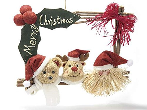 Ideapiu Cartel Merry Christmas con Personajes de Navidad ...