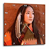 3dRose dpp_92706_2 New Mexico, Cherokee Woman, Native American-US32 JMR0634-Julien McRoberts-Wall Clock, 13 by 13-Inch