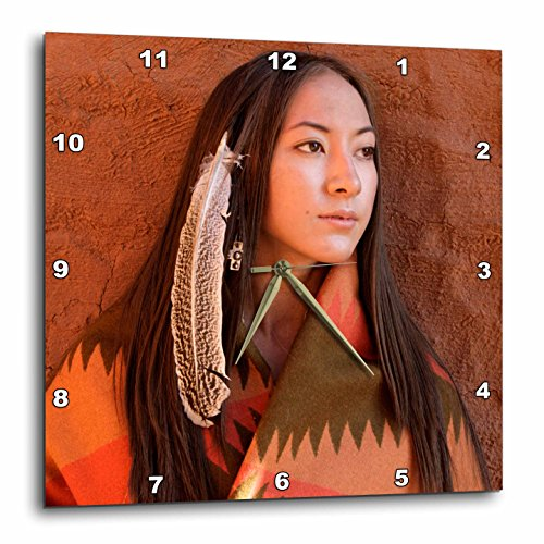 3dRose dpp_92706_1 New Mexico, Cherokee Woman, Native American-Us32 Jmr0634-Julien Mcroberts-Wall Clock, 10 by 10-Inch For Sale