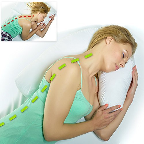 Natural Health Supports Side Sleeper Pillow and Pillow Case by Natural Health Supports
