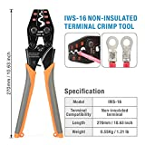 IWISS Ratchet Crimping Tool for Non-Insulated
