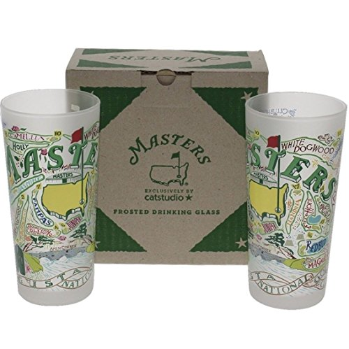 Augusta National Masters Limited Edition Commemorative Cat Studio Frosted Glasses (Set of - Masters Eyewear