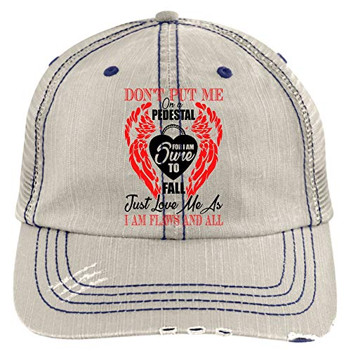I Love You Trucker Cap, Don't Put Me On A Pedestal Hat (Trucker Cap - Putty)