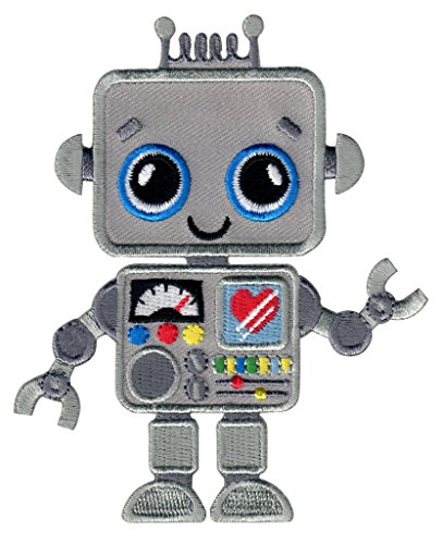 PatchMommy Iron On Patch, Robot - Appliques For Kids ()