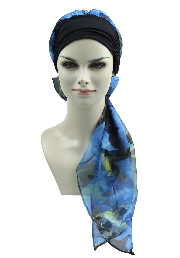 Cancer Headwear Scarves For Chemo Women Fitted Bandana Hair Loss Headwrap Cap