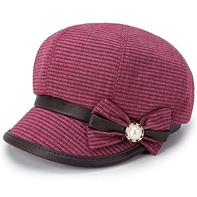HGTYU-Le Printemps Et L'Automne Dans Le Chapeau La Mode Hat Femelle D'Automne Le Printemps Et L'Automne Jours Mère Hat Visière Pac