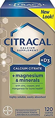 Citracal Calcium Citrate with Vitamin D Plus Magnesium 120 ea Pack of 4