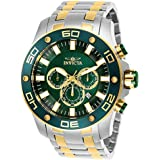 Invicta Pro Diver Chronograph Green Dial Mens...