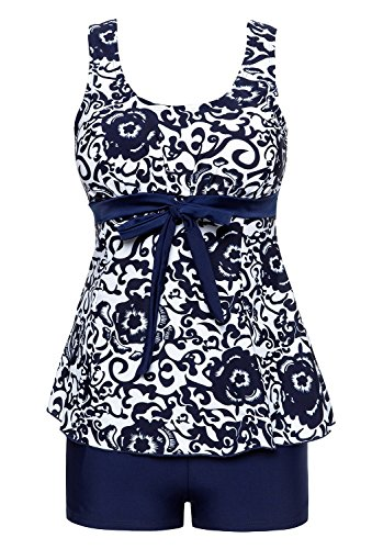 MiYang Women's Plus Size High Waist Printing Swimsuit Bathing Swimwear