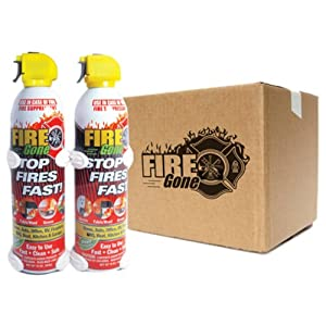 Fire Gone (2-FG-7209-16PK) 2 Fire Suppressant with Bracket - 16 oz., (Pack of 12)