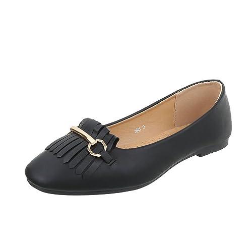 Zapatos para mujer Mocasines Tacón ancho Slipper Negro Tamaño 36: Amazon.es: Zapatos y complementos
