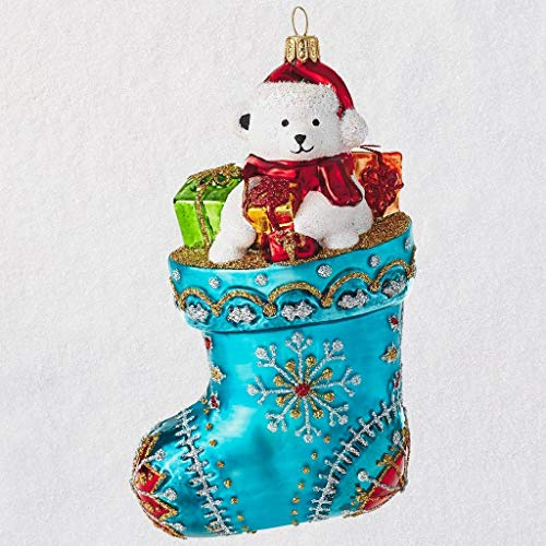 HMK Heritage Collection Ornament - Blue Snowflake Stocking