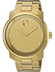 Movado Mens Swiss Quartz and Stainless-Steel-Plated Casual Watch, Color:Gold-Toned (Model: 3600374)