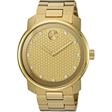 Movado Men's Swiss Quartz Stainless-Steel-Plated Casual Watch, Color:Gold-Toned (Model: 3600374)