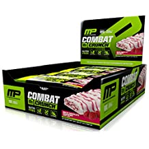 Musclepharm Combat Crunch Nutritional Bar, White Chocolate Raspberry, 12 Count