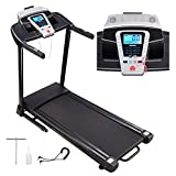 AW 2.25HP Folding Electric Treadmill Motorized Running Walking Machine Cardio Trainer with Speaker LCD Capacity 265lbs