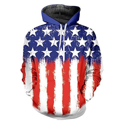 (nordic runes Us American Flag Hoodies for Men Women Cool Sweatshirts Pullover Hoodie with Designs)
