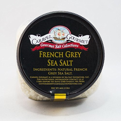French Grey Coarse Sea Salt 2-pack - from the Coasts of Brittany, France - Solar-Evaporated, All-Natural - Infused with Mineral-Rich Clay - Gluten-Free, No MSG, Non-GMO - Stackable Jars (8 total oz.)