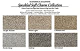 Koeckritz Rugs Sample Swatch (Unbound) – Taupe Accent – ECONOMICAL Solutions Soft Charm Collection | 30 Oz. SoSoft Twist Carpet, 6 Speckled Multi Colors. Made in U.S.A.