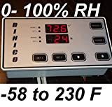 Humidity & Temperature Controller Control for Curing Chamber Pet Animal Drying Moisture plant Hydroponic Grow Closet Hydro Cabinet Room Wetness Dampness Meter 2 Relay Output 15A (1650 watt)