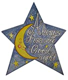 "Star Always Kiss me Twinkle - Assorted Sayings On Wood 11"" x 9.5"" (Blue)"