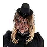 Fancy Party Halloween Mini Veiled Victorian Top Hat