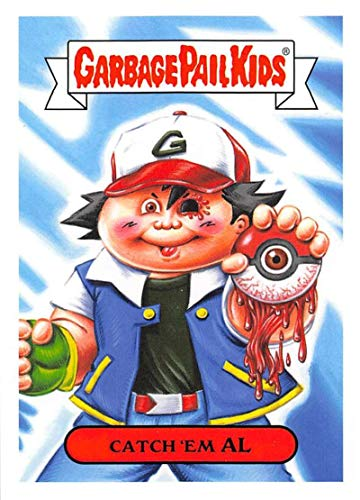 2019 Topps Garbage Pail Kids We Hate the '90s Video Games Sticker #6b CATCH 'EM AL Sticker Trading Card
