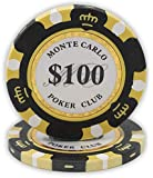 Da Vinci 14 Gram Clay Monte Carlo Poker Club Premium Quality Poker Chips - Pack of 50 Chips
