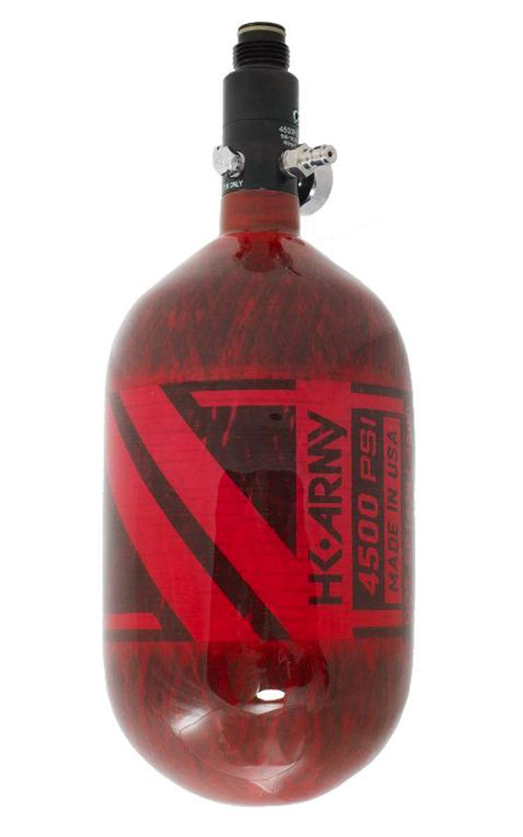HK Army Aerolite Carbon Fiber HPA Paintball Tank Air System - 68ci / 4500psi (Red) by HK Army