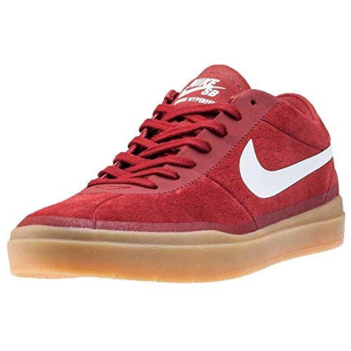Nike Bruin SB Hyperfeel, Scarpe da Skateboard Uomo Rojo (Dark Cayenne / White-gum Light Brown)