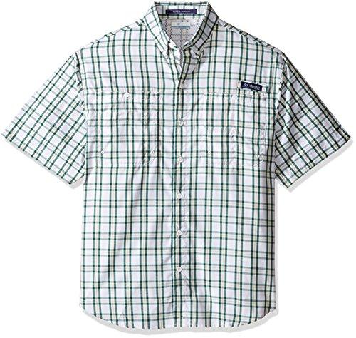New Columbia Super Tamiami Short Sleeve Shirt Napa Green Size Extra Large