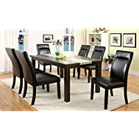 Furniture of America Domoni 7-Piece Industrial Style Dining Set