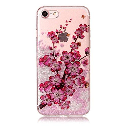 """Hülle iPhone 7 / iPhone 8 , LH Zweige Pflaumenblüte TPU Weich Muschel Tasche Schutzhülle Silikon Handyhülle Schale Cover Case Gehäuse für Apple iPhone 7 / iPhone 8 4.7"""""""