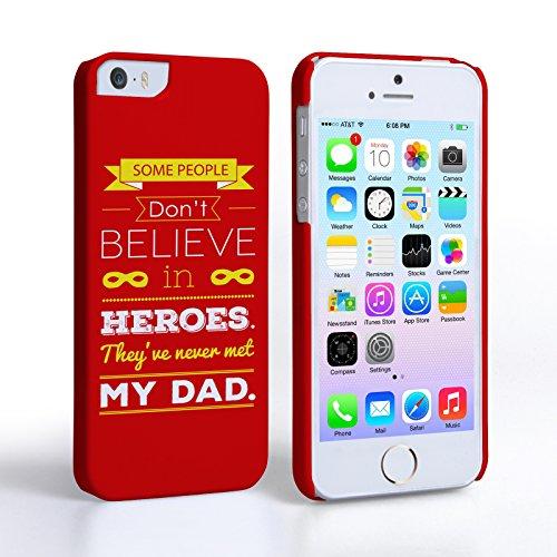 Caseflex iPhone 5 Coque Rigide Rouge Citation Papa Est Un Héro