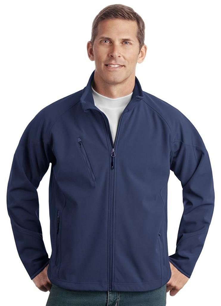 Textured Soft Shell Jacket Color Insignia Blue Size Large