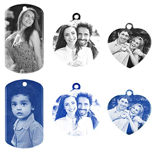 Amlion Personalized Custom Engraved Photo Tag with Message, Stainless Steel Tag, Custom Key Chain Unisex
