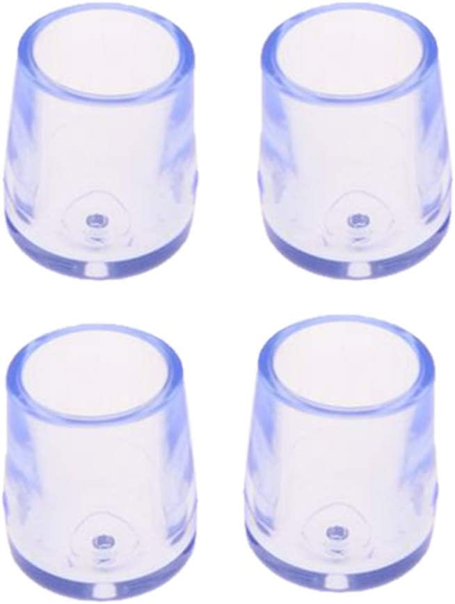 as described Durable and Useful Ogquaton Set of 4 Rubber Furniture Table Chair Leg Floor Feet Cap Cover Protector Transparent 15mm 0.6 in Dia