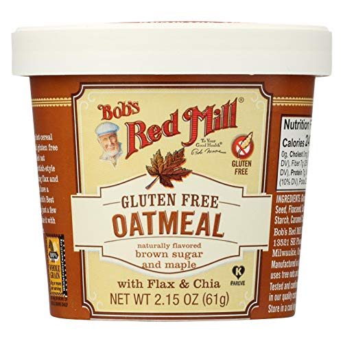 - Bob's Red Mill Gluten-Free Oatmeal Cup, Brown Sugar & Maple, 61g (Pack of 12)