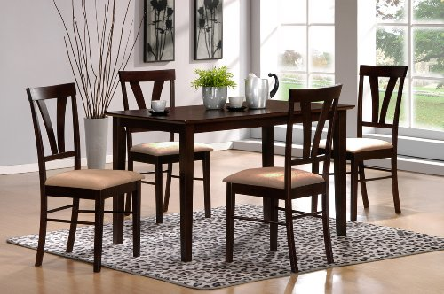 (5pc Tuscan Dining Set, Espresso)