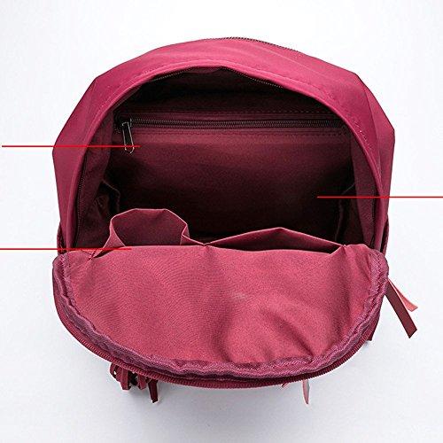 Pour En Dame Ordinateur étanche QXMEI Portable Les Voyage Sac Décontracté Dos à à à Bandoulière école Red Collège Sac Dos Fille Nylon Dos Femmes Sac à Sac 8w18Tx