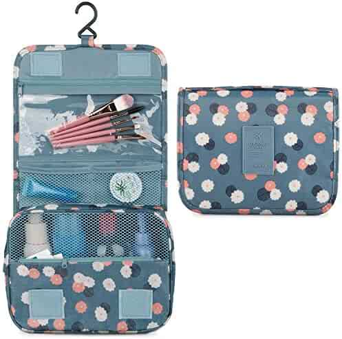 c073e998e4c Hanging Travel Toiletry Bag Cosmetic Make up Organizer for Women and Girls  Waterproof