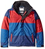 Quiksilver Big Boys' Mission Printed Youth Snow Jacket, Sample Stripe Racing Red, 10/M