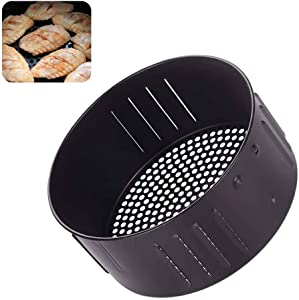 Air Fryer Replacement Basket,Air Fryer Basket Non Stick Kitchen Roasting Tin Cooking Drain Oil Baking Tray