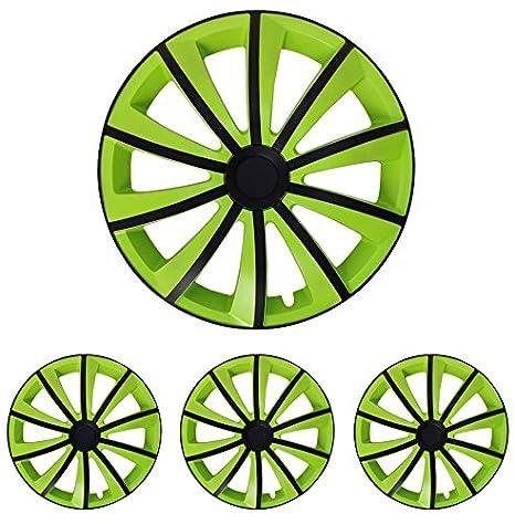 Tapacubos – Tapacubos Tapacubos Gral verde 16 pulgadas 16 R16 universal apto para casi todos