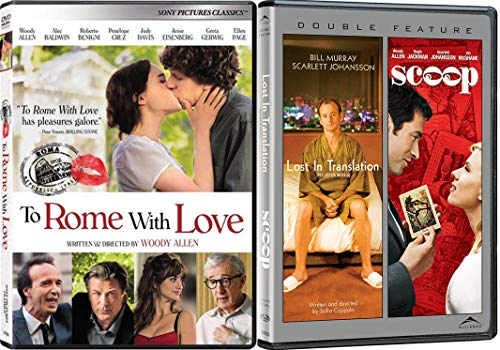 Scoop Shell (Woody Allen Double Feature with a Scarlett Johansson Double Feature Overlap with Scoop & Lost and Translation (Full Screen) with To Rome With Love 3-Movie Bundle)