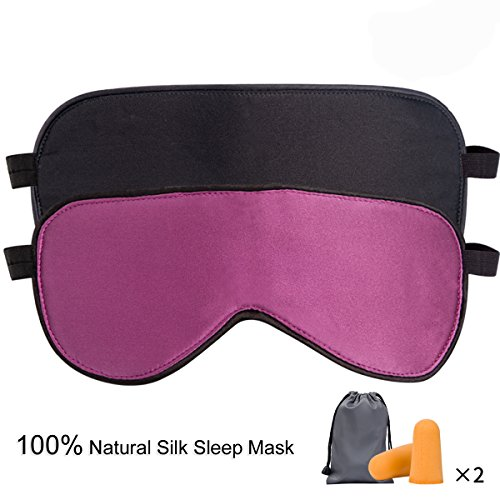 Sleep Mask Pack of 2, LIANSING Silk Eye Mask for Sleeping, Comfortable and Super Soft Night Blindfold Sleeping Mask Eye Shade for Women - Shades Slim
