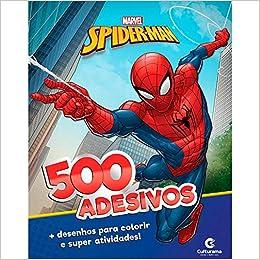 Marvel Homem Aranha 500 Adesivos Em Portugues Do Brasil