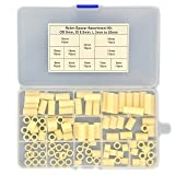 Electronics-Salon Plastic Round Spacer Assortment Kit. OD 9mm, ID 5.5mm, L 3 to 25mm, for M5 Screws. Length 3mm 4mm 5mm 7mm 8mm 10mm 12mm 15mm 18mm 20mm 25mm, Plastic ABS Standoff.