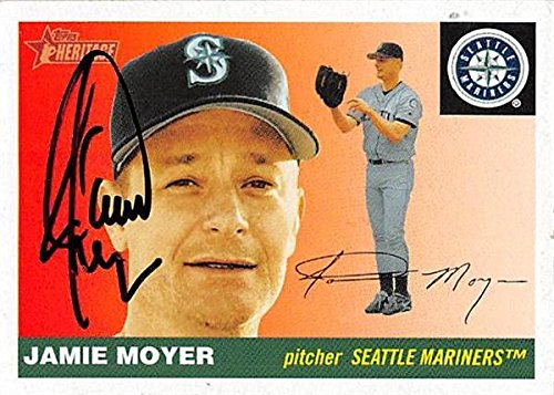 Jamie Moyer autographed Baseball Card (Seattle Mariners, SC) 2004 Topps Heritage #392 - Baseball Slabbed Autographed Cards
